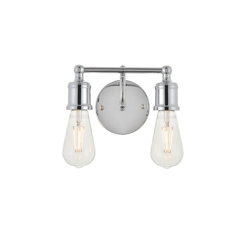 Elegant Lighting Serif 2 light chrome Wall Sconce