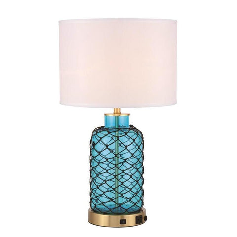 Elegant Lighting Sirena 1 light Brass Table Lamp