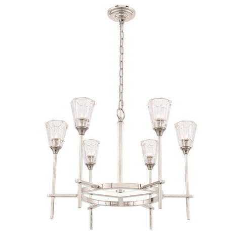 Elegant Lighting Soiree 6 light Polished Nickel Pendant