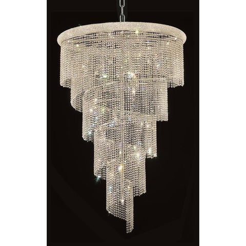 Elegant Lighting Spiral 29 light Chrome Chandelier Clear Spectra Swarovski Crystal