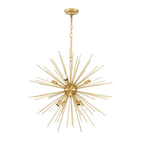 Elegant Lighting Timber 8 light Brass pendant