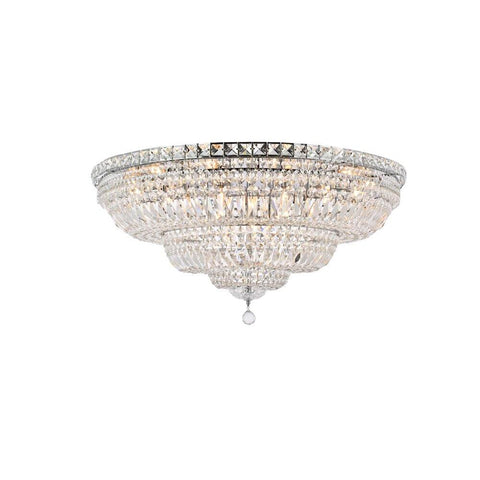 Elegant Lighting Tranquil 21 light Chrome Flush Mount Clear Elegant Cut Crystal