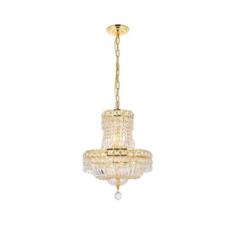 Elegant Lighting Tranquil 6 light Gold Pendant Clear Swarovski Elements Crystal