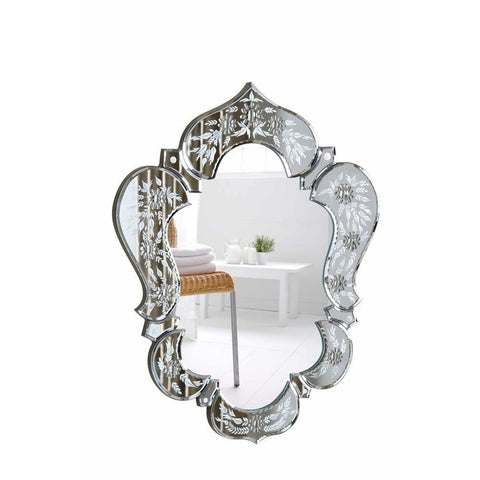Elegant Lighting Venetian 20.7 in. Transitional Mirror in Clear