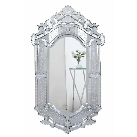 Elegant Lighting Venetian 27.6 in. Transitional Mirror in Clear