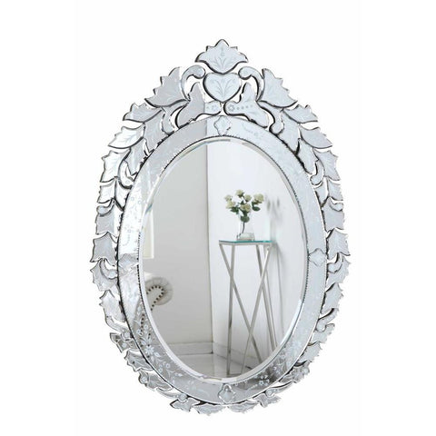 Elegant Lighting Venetian 32.75 in. Transitional Mirror in Clear