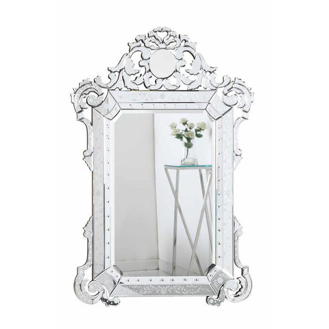 Elegant Lighting Venetian 39.5 in. Transitional Mirror in Clear
