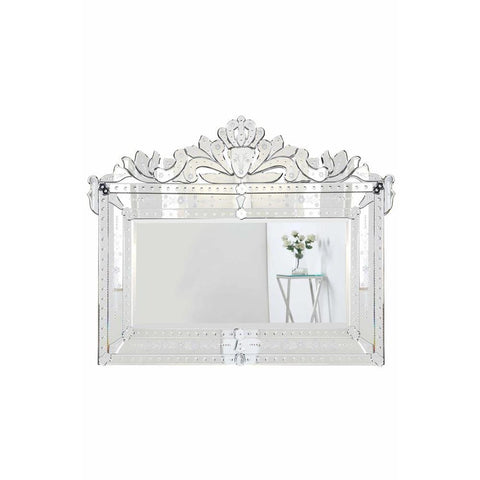 Elegant Lighting Venetian 42.5 in. Transitional Mirror in Clear