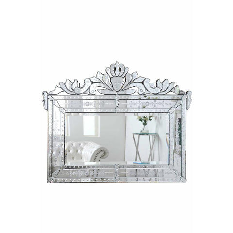 Elegant Lighting Venetian 59 in. Transitional Mirror in Clear