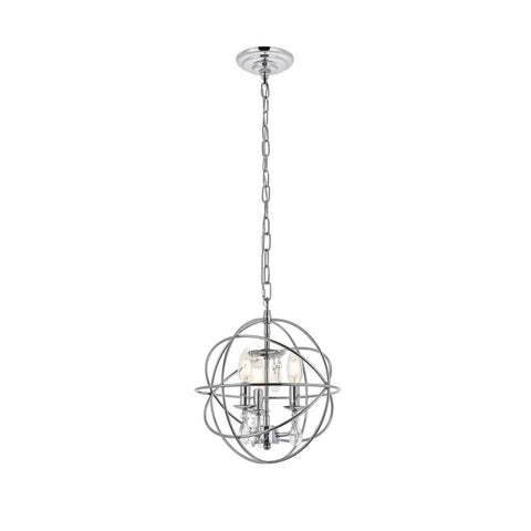 Elegant Lighting Wallace 3 light Chrome Pendant