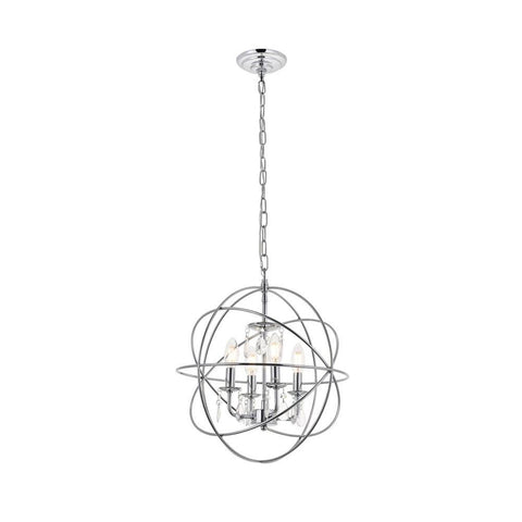 Elegant Lighting Wallace 4 light Chrome Pendant