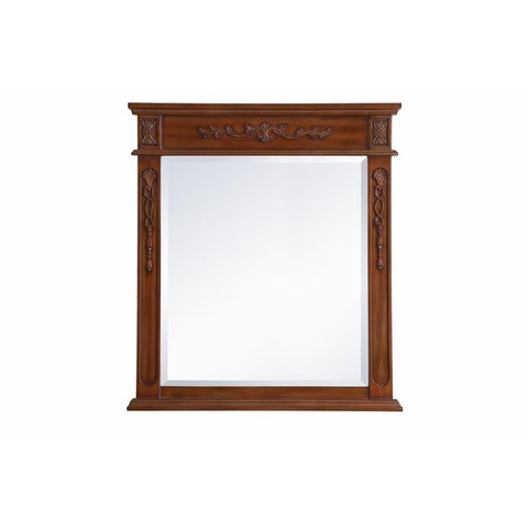 Elegant Lighting Wood frame mirror 32 inch x 36 inch in Teak