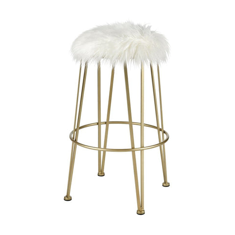 Elk Charmed I'm Sure Bar Stool in Gold and White