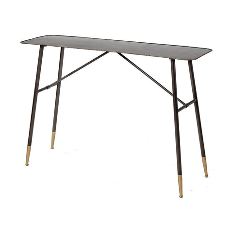 Elk Christian Console Table in Oil Rubbed Bronze and Gold