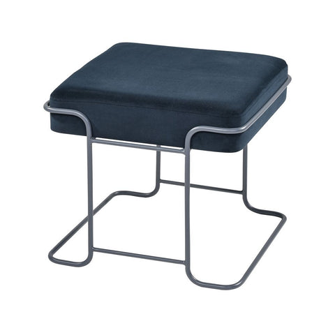 Elk Interlinked Single Bench in Deep Navy and Grey