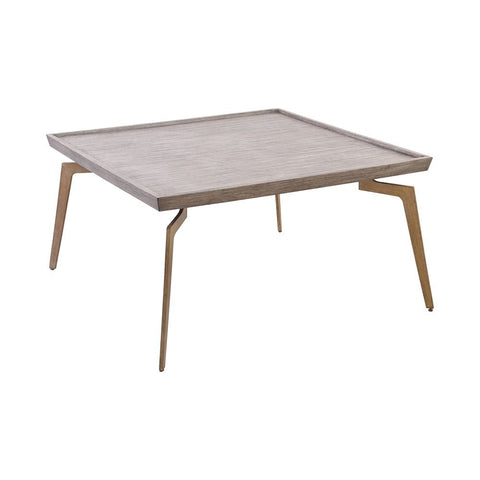 Elk Larocca Coffee Table in Soft Gold and Grey Birch Veneer