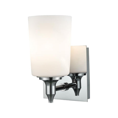 Elk Lighting 1 Light Vanity in Chrome and Opal Glass