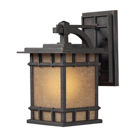 Elk Lighting 45010/1 Newlton 1 Light Outdoor Sconce in Weathered Charcoal