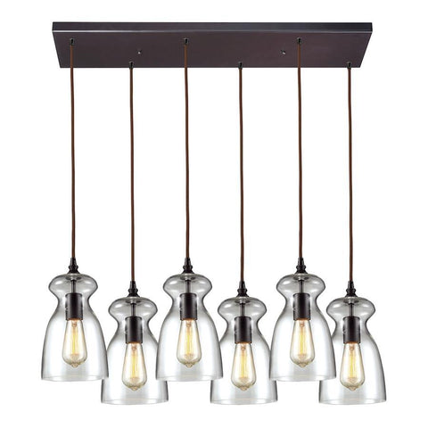 Elk Lighting 6-Light Pendant in Oil Rubbed Bronze