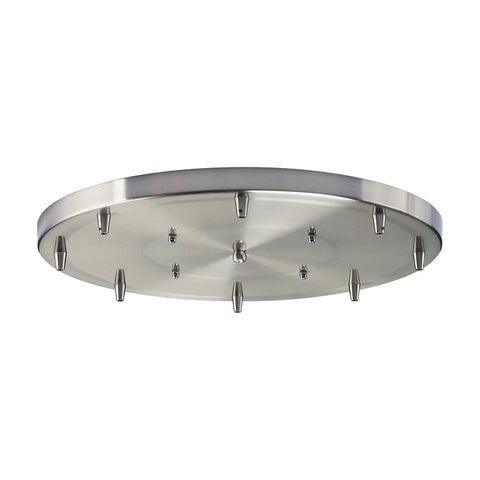 Elk Lighting 8R-SN 8 Light Round Pan in Satin Nickel