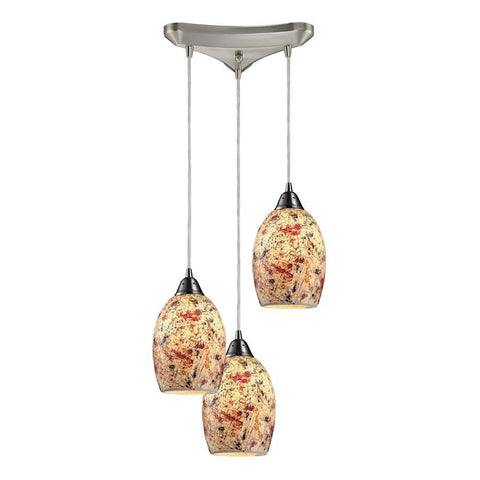 Elk Lighting Avalon 3- Light Pendant in Satin Nickel
