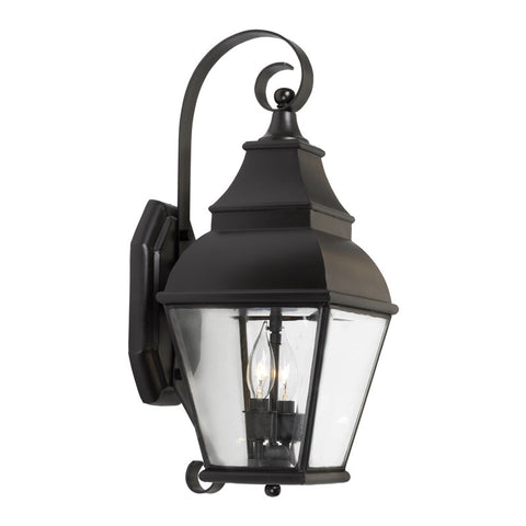Elk Lighting Bristol 5215-C Outdoor Wall Lantern in Solid Brass & Charcoal Finish