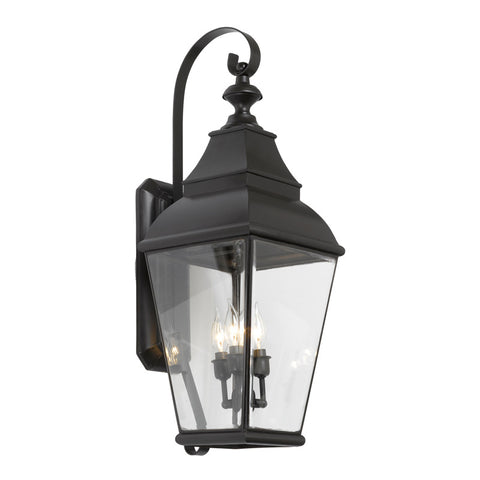 Elk Lighting Bristol 5216-C Outdoor Wall Lantern in Solid Brass & Charcoal Finish