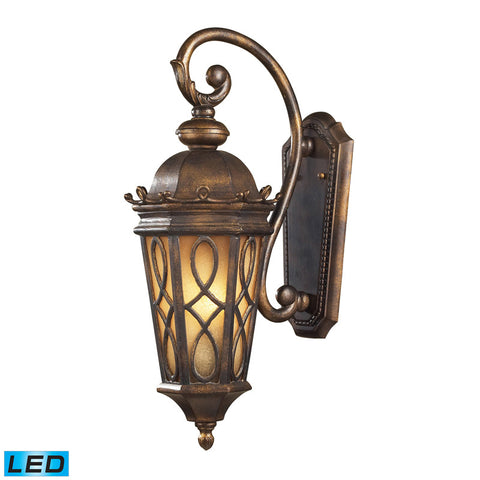 Elk Lighting Burlington Junction 2 Light Wall Bracket in Hazlenut Bronze & Amber Scavo Glass