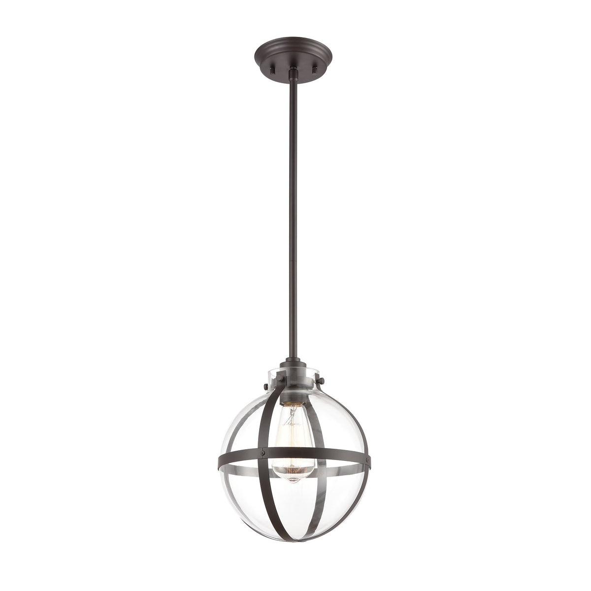 Elk Lighting Online: Elk Lighting Cusp 1-Light Mini Pendant In Oil Rubbed