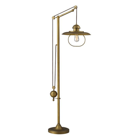 Elk Lighting D2254 - Farmhouse Adjustable Floor Lamp in Antique Brass