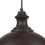 Elk Lighting Farmhouse 1-Light Adjustable Pendant in Oiled Bronze