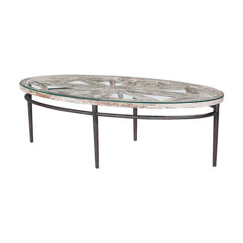 Elk Lighting Farmhouse Oval Coffee Table