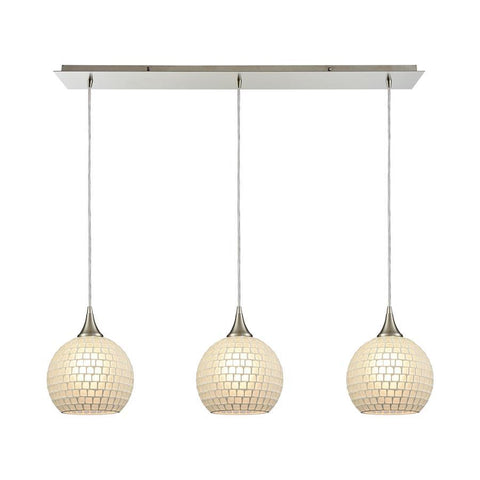 Elk Lighting Fusion 3 Pendant Satin Nickel