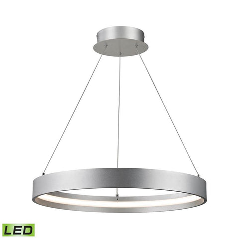 Elk Lighting Gallaria Small LED Pendant- 30W Alluminum Finish
