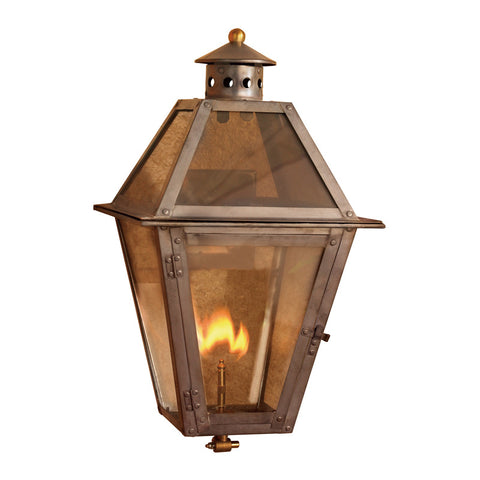 Elk Lighting Grande Isle 7929-WP Outdoor Gas Wall Lantern in Solid Brass & Aged Copper Finish