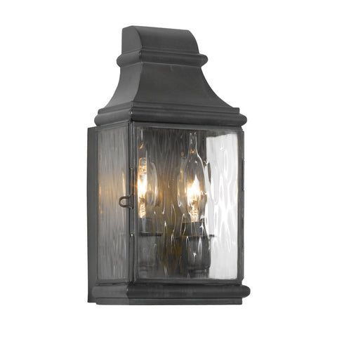 Elk Lighting Jefferson 701-C Outdoor Wall Lantern in Solid Brass & Charcoal Finish