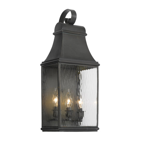 Elk Lighting Jefferson 704-C Outdoor Wall Lantern in Solid Brass & Charcoal Finish