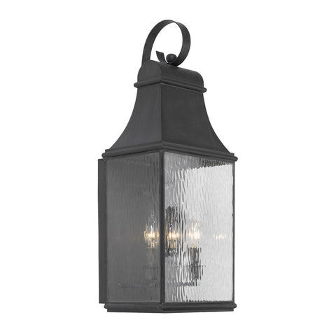 Elk Lighting Jefferson 706-C Outdoor Wall Lantern in Solid Brass & Charcoal Finish