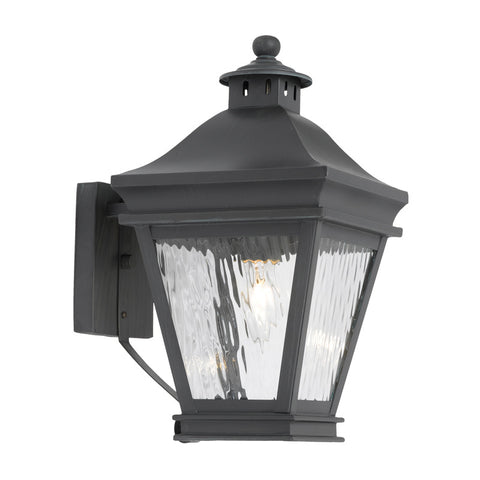 Elk Lighting Landings 5720-C Outdoor Wall Lantern in Solid Brass & Charcoal Finish