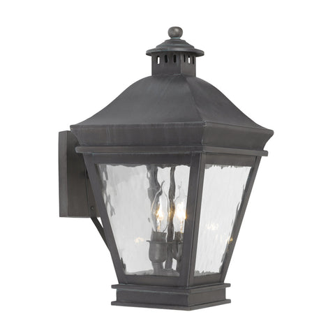 Elk Lighting Landings 5721-C Outdoor Wall Lantern in Solid Brass & Charcoal Finish