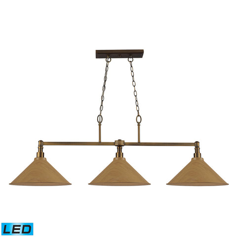 Elk Lighting Linear Pendants 2 Light Pendant in Polished Nickel