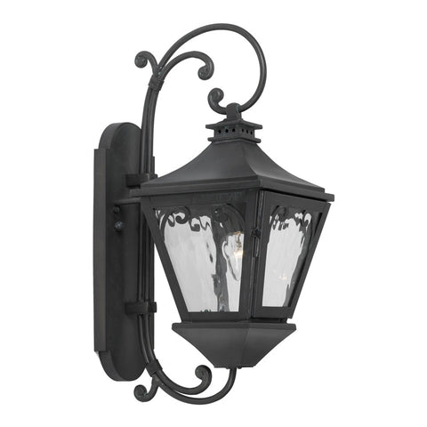 Elk Lighting Manor 6710-C Outdoor Wall Lantern in Solid Brass & Charcoal Finish