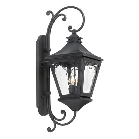Elk Lighting Manor 6711-C Outdoor Wall Lantern in Solid Brass & Charcoal Finish