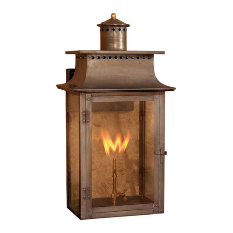 Elk Lighting Maryville 7905-WP Outdoor Gas Wall Lantern in Solid Brass & Aged Copper Finish