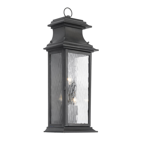 Elk Lighting Provincial 5727-C Outdoor Wall Lantern in Solid Brass & Charcoal Finish