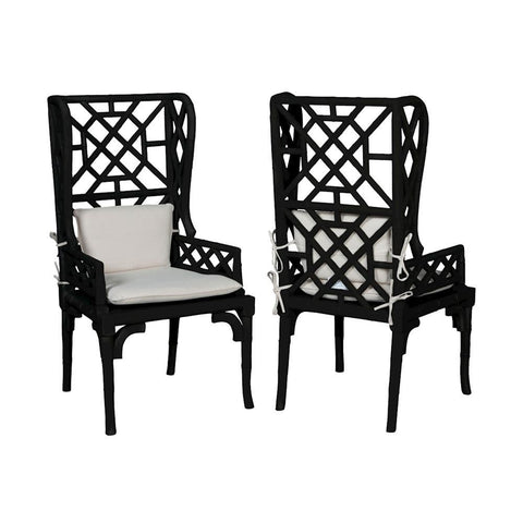 Elk Lighting Set of 2 | Bamboo Wing Back Chair
