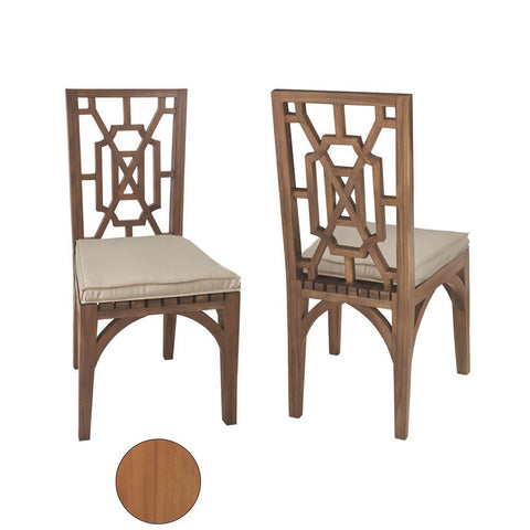 Elk Lighting Teak Garden Dining Chairs In Euro Teak Oil (Set of 2)