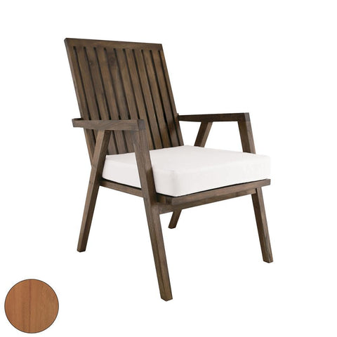Elk Lighting Teak Garden Patio Chair in Euro Teak Oil