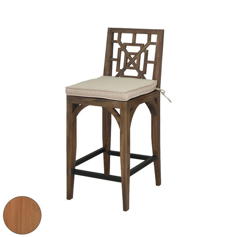 Elk Lighting Teak Patio Barstool in Euro Teak Oil