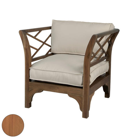 Elk Lighting Teak Patio Chair in Euro Teak Oil